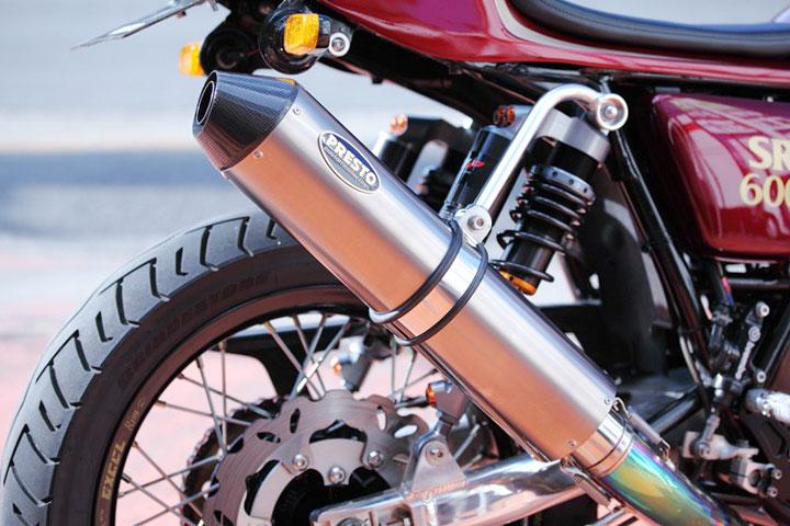 SR400チタンサイレンサー カーボンエンド